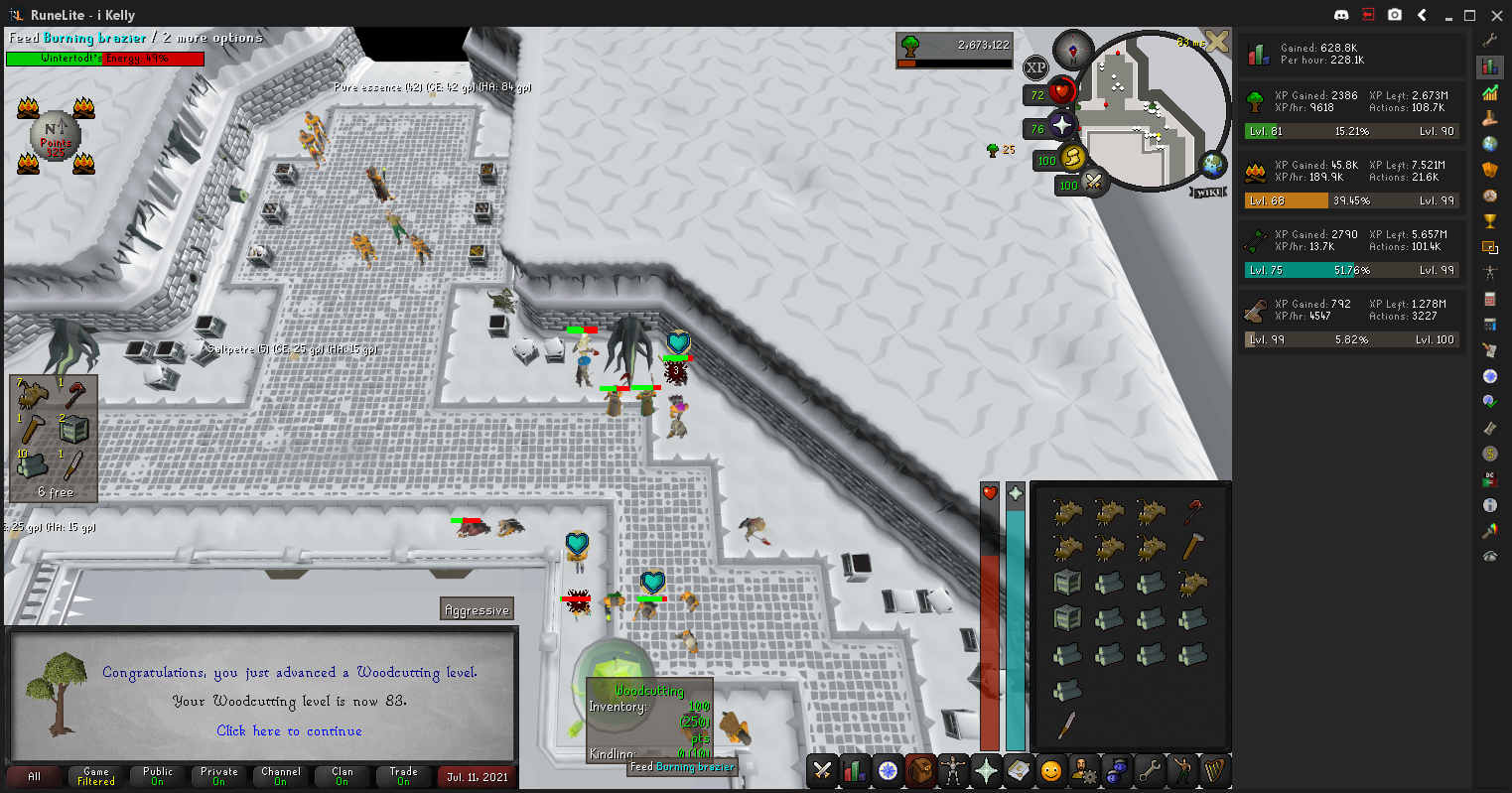 Kelly's Lengthy Road to Maxing! Woodcutting-83-2021-07-11-11-42-31