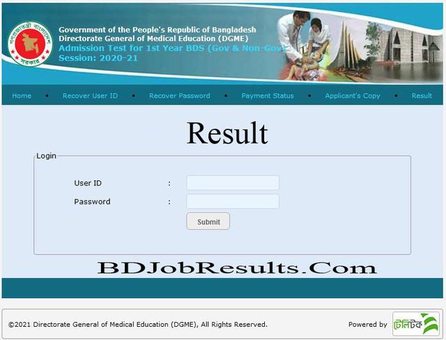 BDS Result 2021