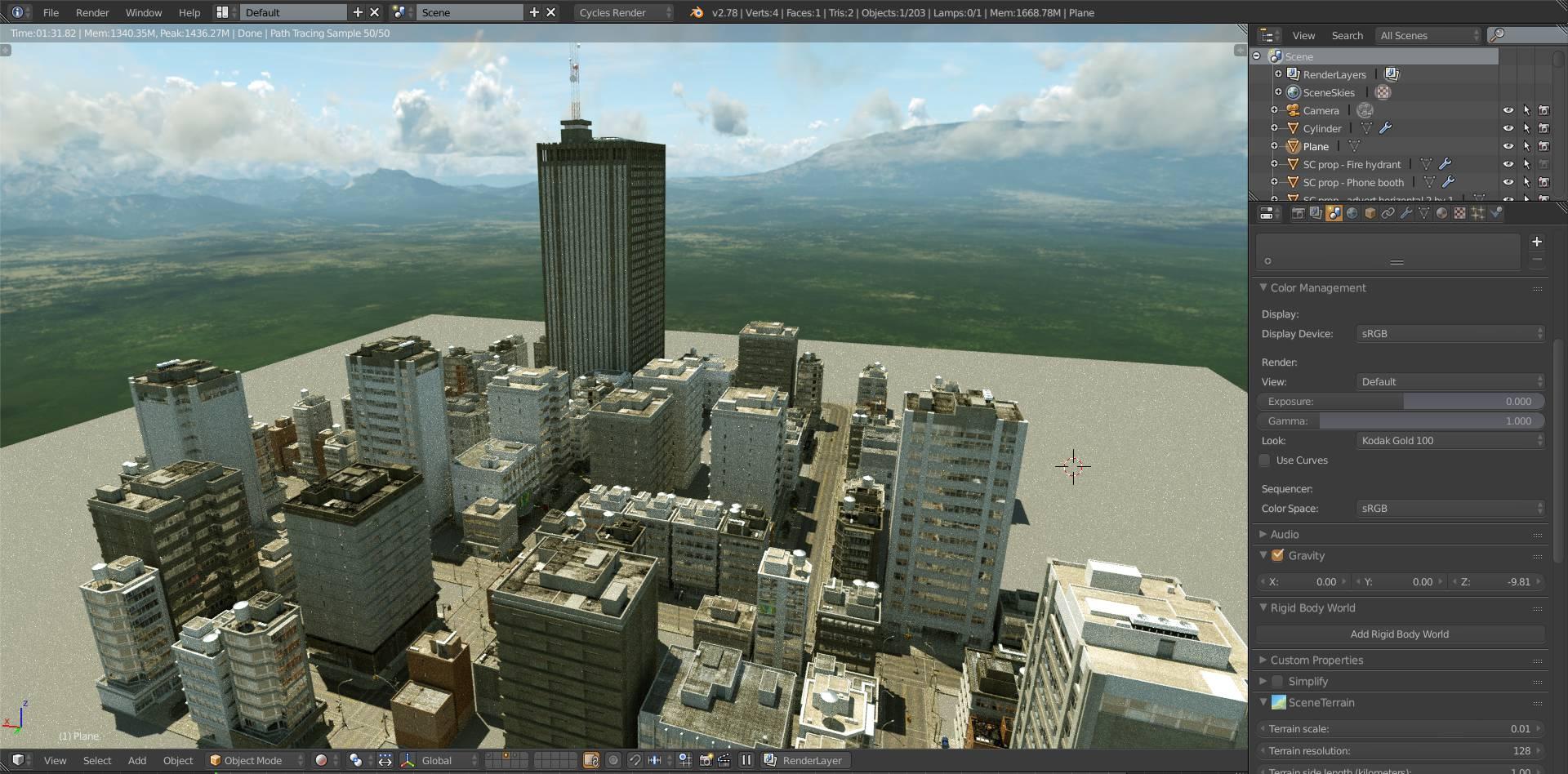 SceneCity 1.7.0 for Blender 2.80 - 2.81