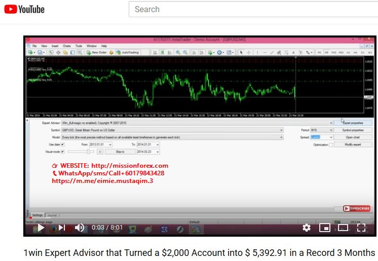 1win Expert Advisor Turned a $2,000 Account into $ 5,392.91