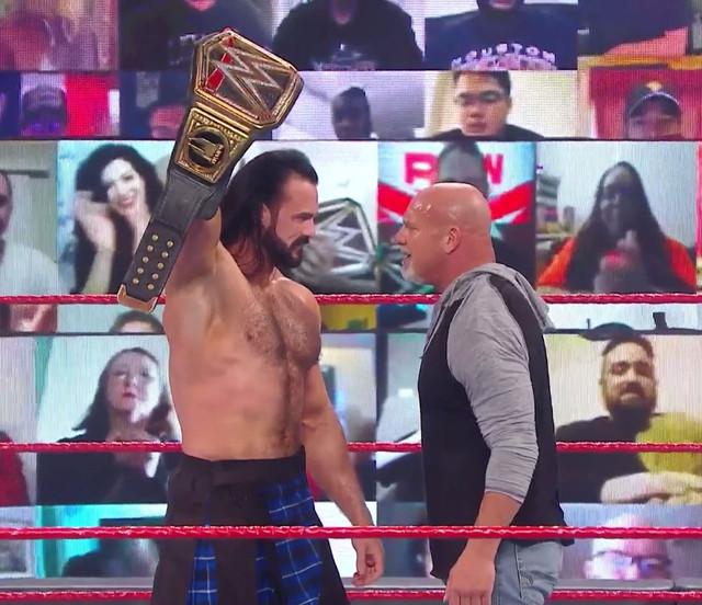 Careo entre Drew Mcintyre y Goldberg Royal Rumble raw 26 enero