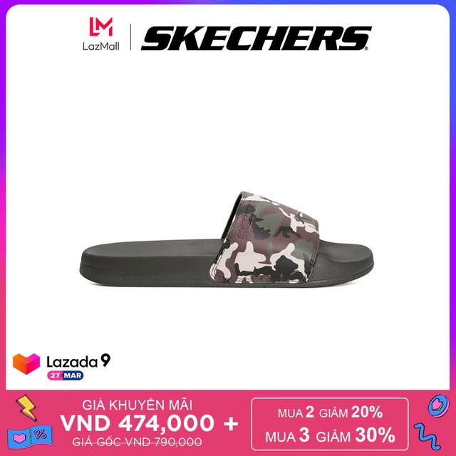 Skechers Dép Nam Side Lines - 8790060-GRMT giá rẻ