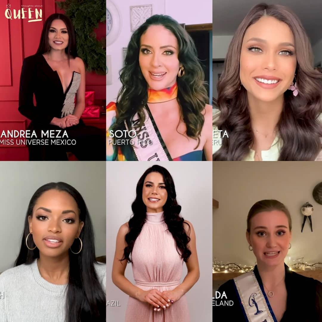 algunas candidatas de miss universe 2020 comentando su propositos para new year. Munhe5fef855ca4168