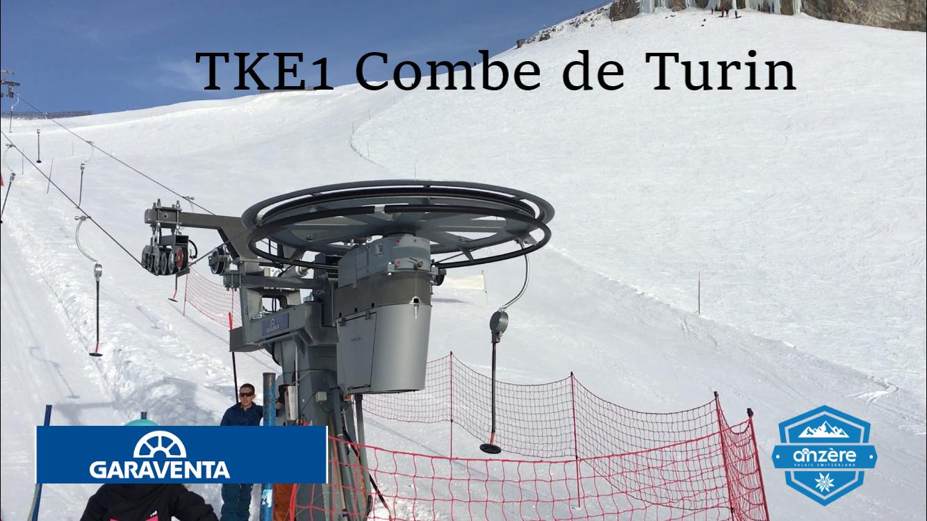 Téléski à enrouleurs monoplaces (TKE1) Combe de Turin Banni-re-turin