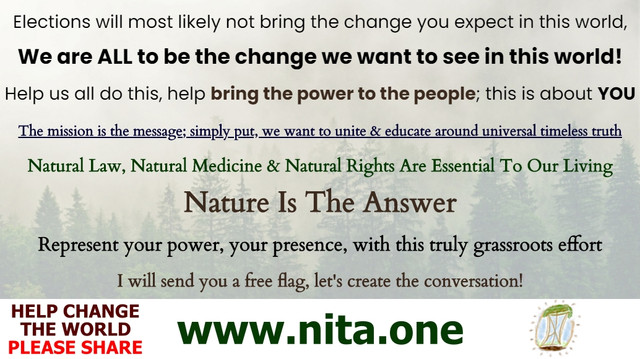 We Are To Be The Change - Nature Is The Answer NITA.ONE Election Share-Sheet.jpg