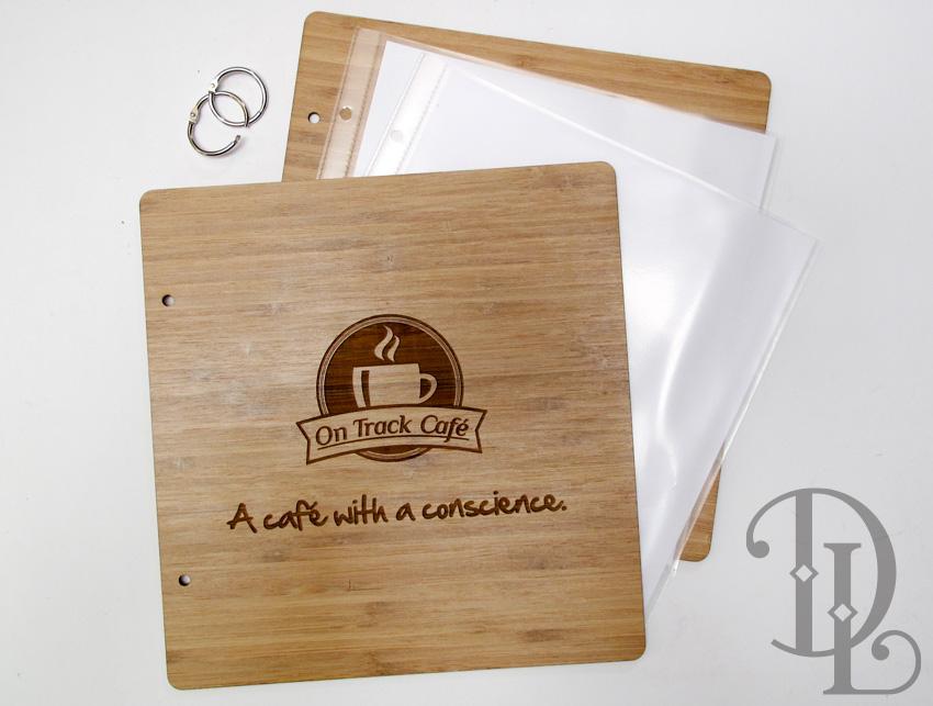 Custom Made Bamboo Wooden Menu Folder With Engraving