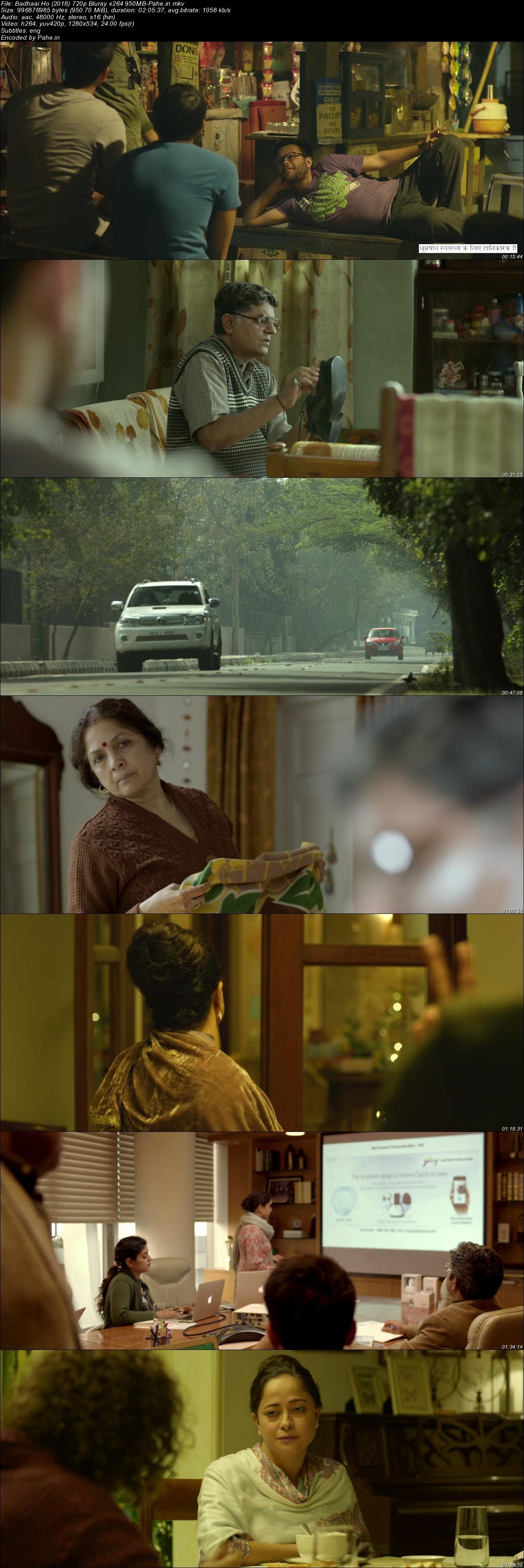 Badhaai Ho (2018) BluRay 480p & 720p - Pahe in