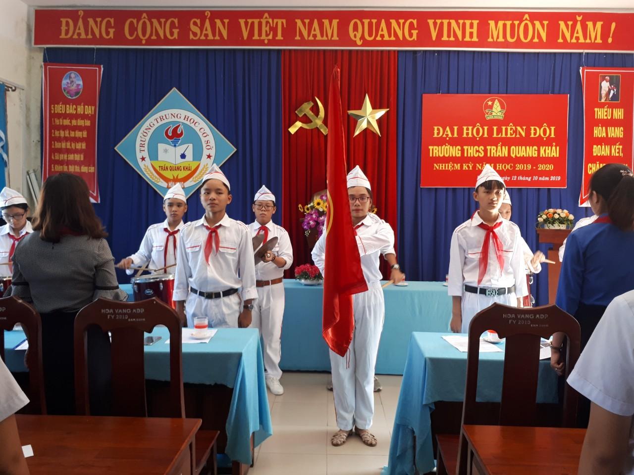 Đại hội liên đội trường thcs Trần Quang Khải nhiệm kỳ 2019 - 2020