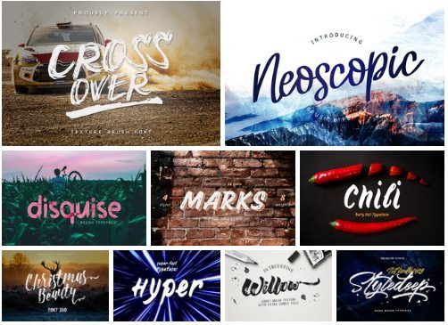 Collection of 9 Fonts Family, Latin