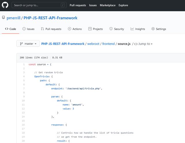 PHP/JS REST API Framework
