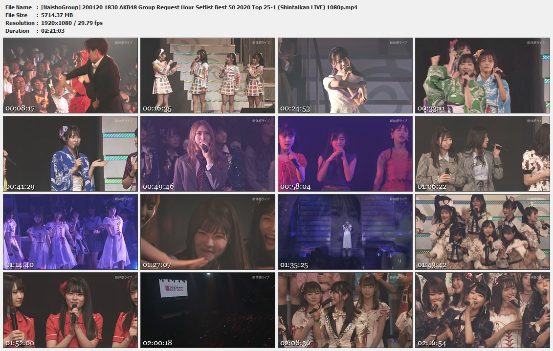 Naisho-Group-200120-1830-AKB48-Group-Request-Hour-Setlist-Best-50-2020-Top-25-1-Shintaikan-LIVE-1080p-mp4