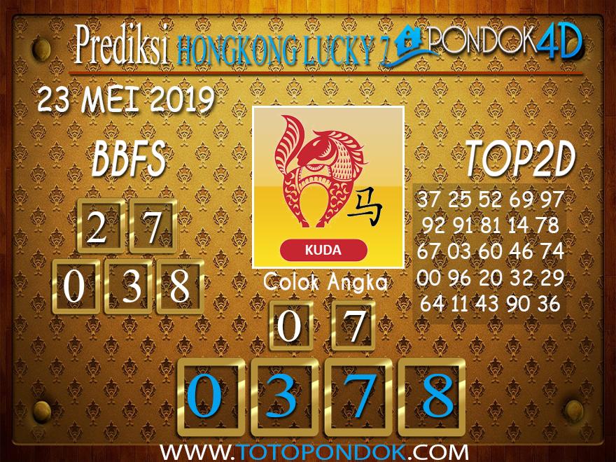 Prediksi Togel HONGKONG LUCKY 7 PONDOK4D 23 MEI 2019