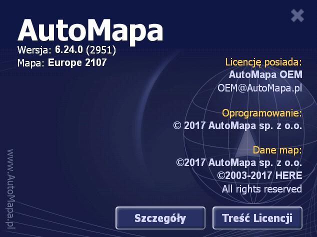 AUTOMAPA 6.24.0 ( 2107 ) EUROPE / POLSKA FINAL CRACKED ( PC / WinCE )