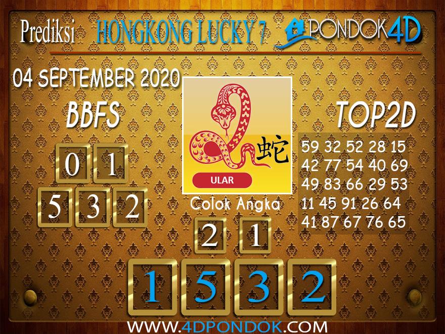 Prediksi Togel HONGKONG LUCKY 7 PONDOK4D 04 SEPTEMBER 2020