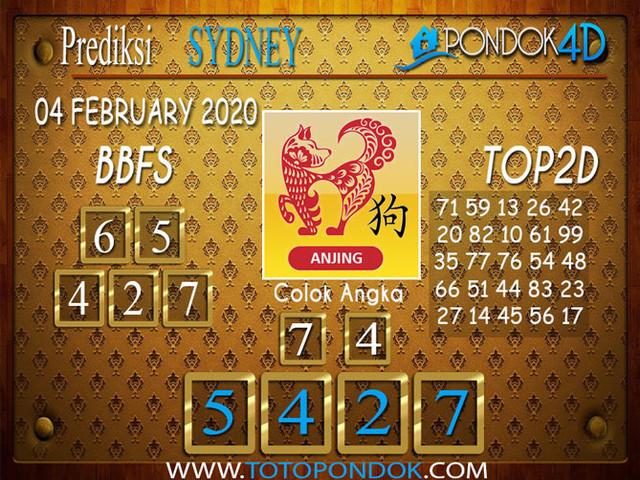 Prediksi Togel SYDNEY PONDOK4D 04 FEBRUARY 2020