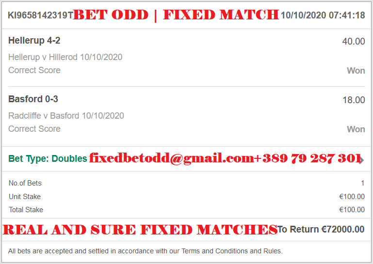 REAL AND SURE FIXED MATCHES