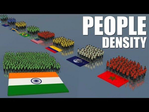Плотность населения по странам, наглядно