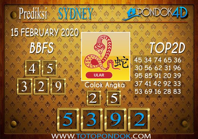 Prediksi Togel SYDNEY PONDOK4D 15 FEBRUARY 2020