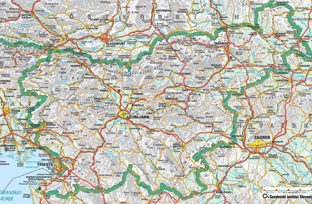Skofije zemljevid slovenija