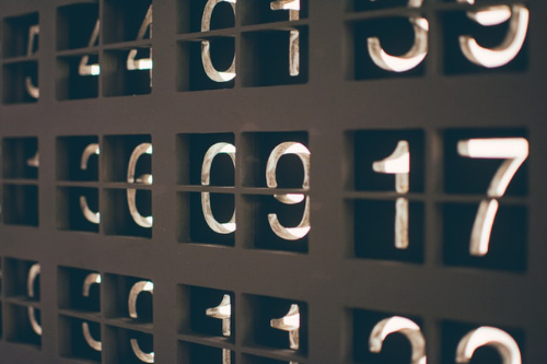 An image of numbers on a board.