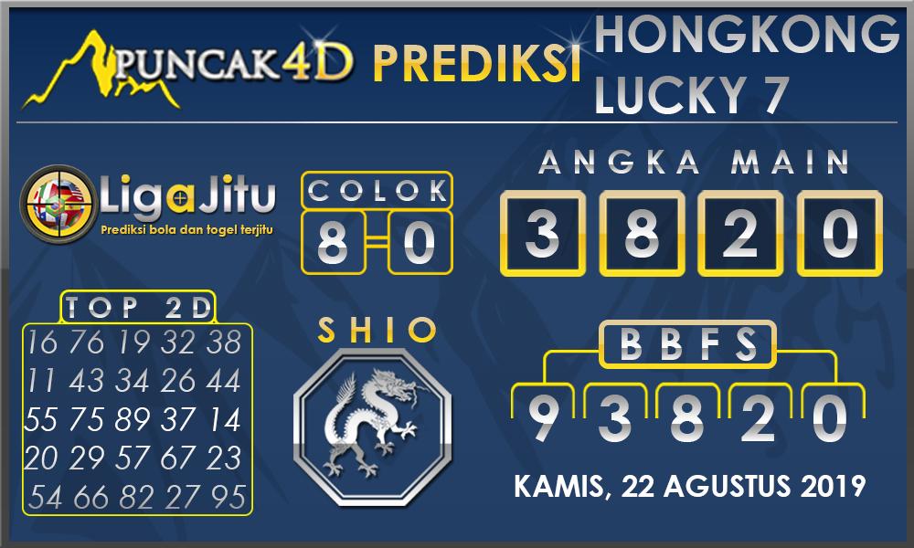 PREDIKSI TOGEL HONGKONG LUCKY7 PUNCAK4D 22 AGUSTUS 2019