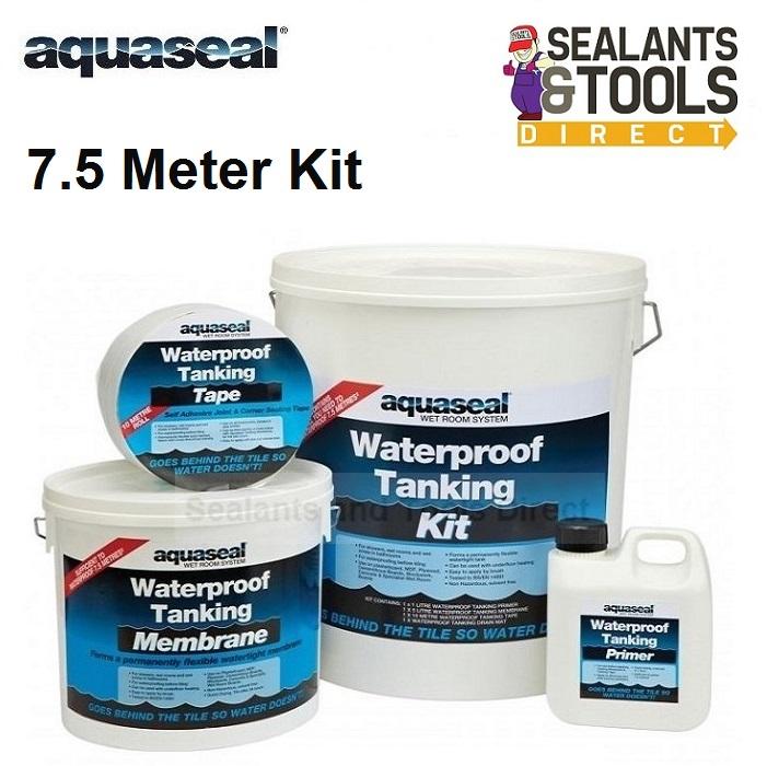 Aquaseal Wet Room Tanking System Large 7.5 Meter Kit AQWRSKIT