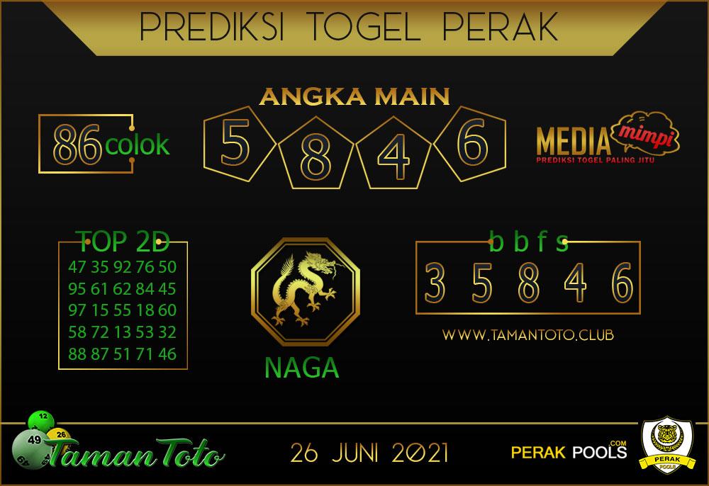 Prediksi Togel PERAK TAMAN 26 JUNI 2021