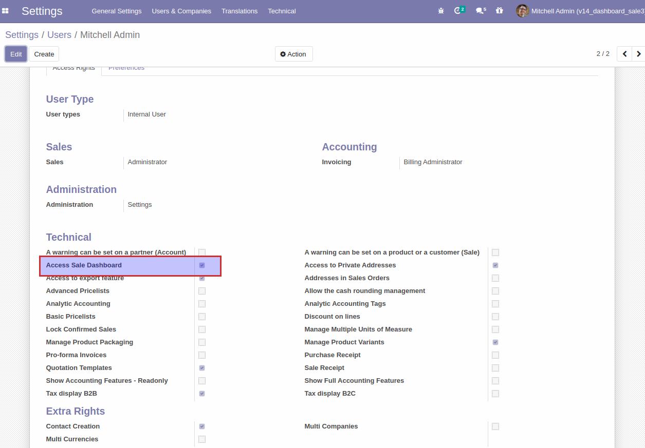 Odoo Website Sales Dashboard module
