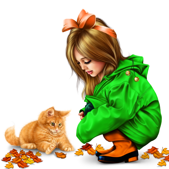 little girl in raincoat with a kitty png 11d6c6eb395af47b16.png