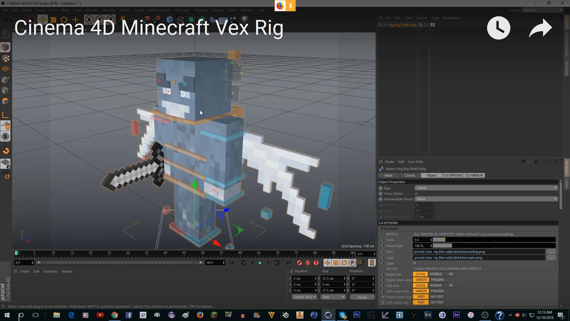 ✓ - [Cinema 4D] Minecraft VERSATILE Vex mob rig | BlackSpigotMC