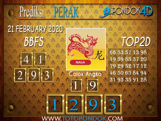Prediksi Togel PERAK PONDOK4D 21 FEBRUARY 2020