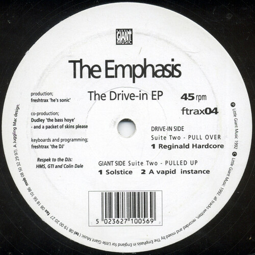 The Emphasis - The Drive-in EP