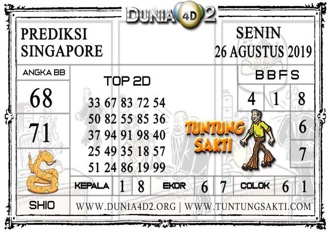 """Prediksi Togel """"SINGAPORE"""" DUNIA4D2 26 AGUSTUS 2019"""