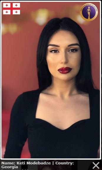 candidatas a miss cosmopolitan world 2019. final: 25 oct. Miss-georgia