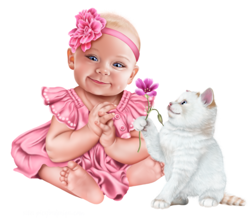 baby-with-a-kitten-png10.png