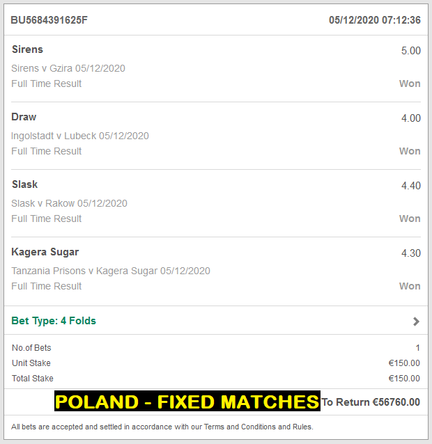 POLAND BEST FIXED MATCHES