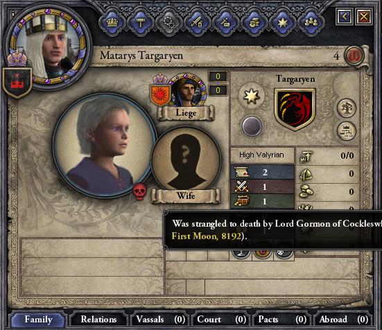 Prince Matarys hanged, drawn, and quartered.