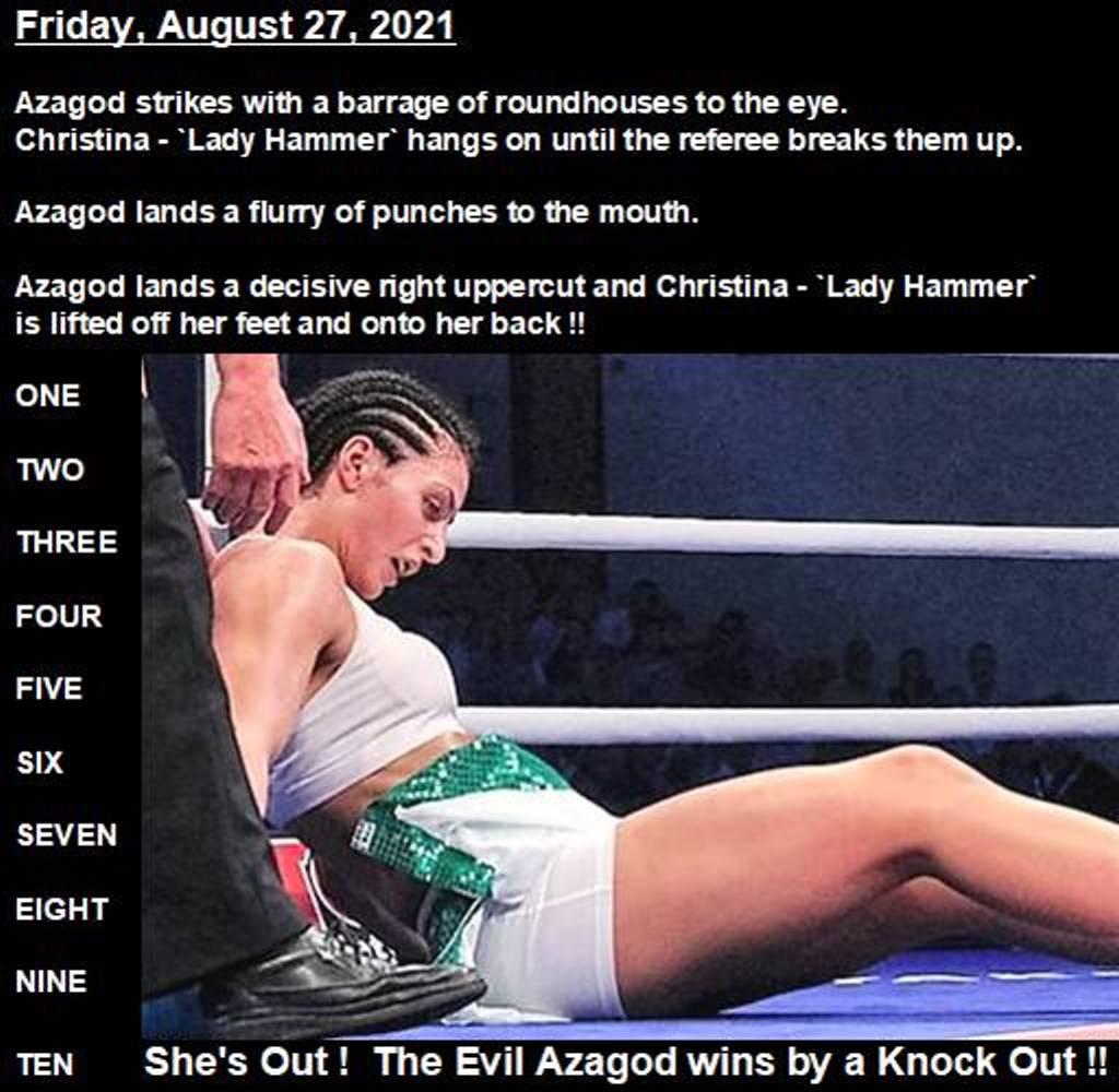 Christina-Hammer-knocked-out-by-The-Evil-Azagod-27-08-2021