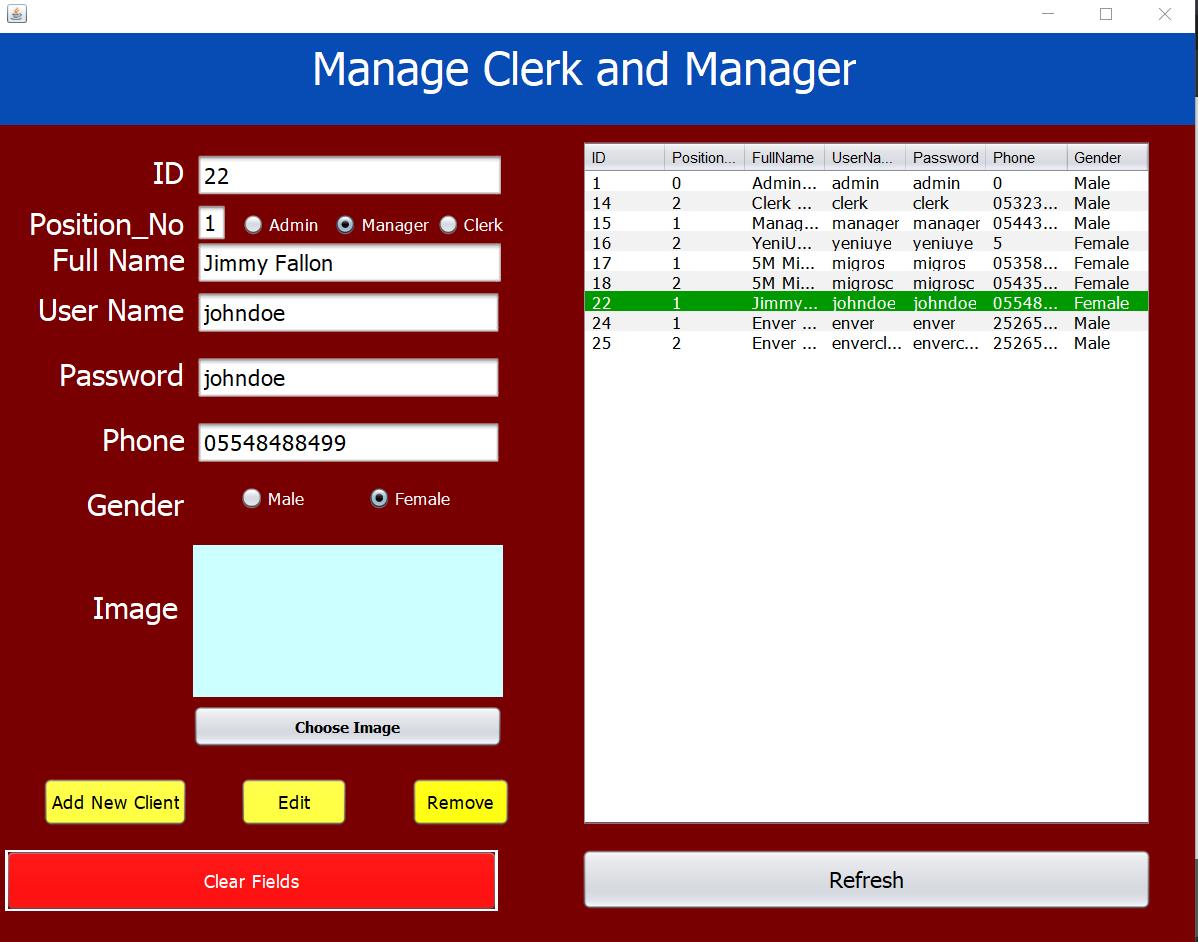 Java Market Chain Management System