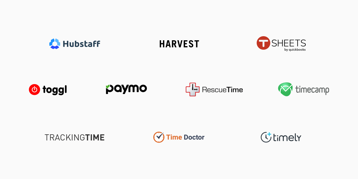 Toggl, RescueTime, Hubstaff are all good time tracking tools.