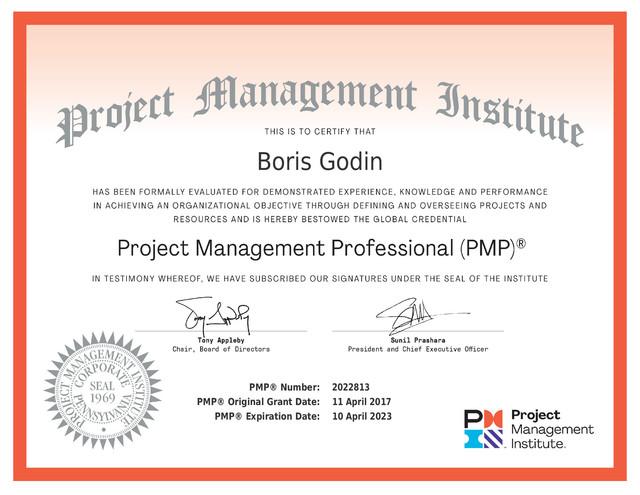 Boris-Godin-PMP-Certificate-2017-2023