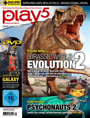 Cover: Play5 Das Playstation Magazin No 09 2021