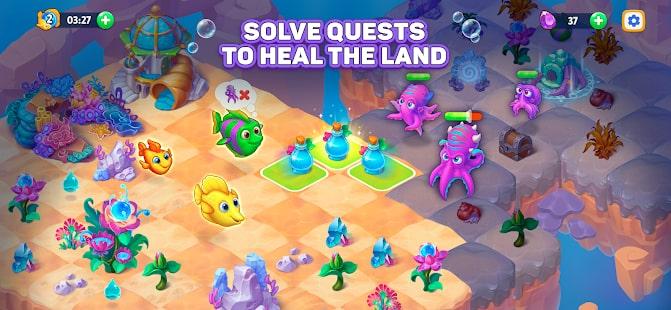 Sea Merge Fish Games in Aquarium & Ocean Puzzle 3