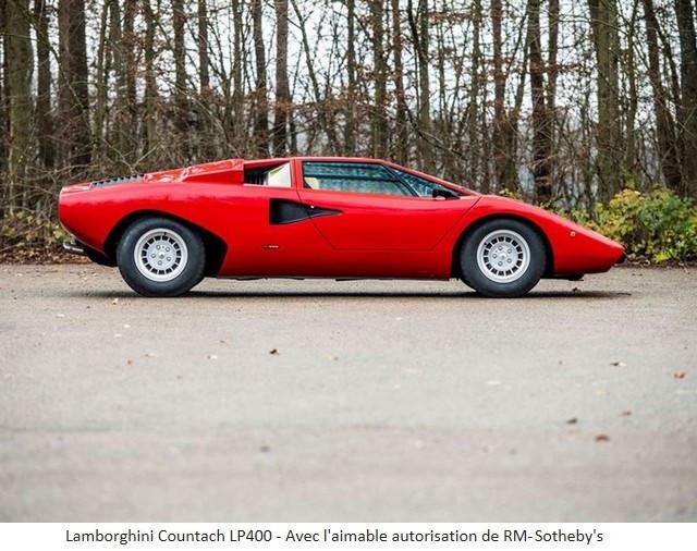 Lamborghini Miura SV et Countach LP 400 «Periscopio» atteignent des prix records à la vente RM Sotheby's Paris 579661-v2