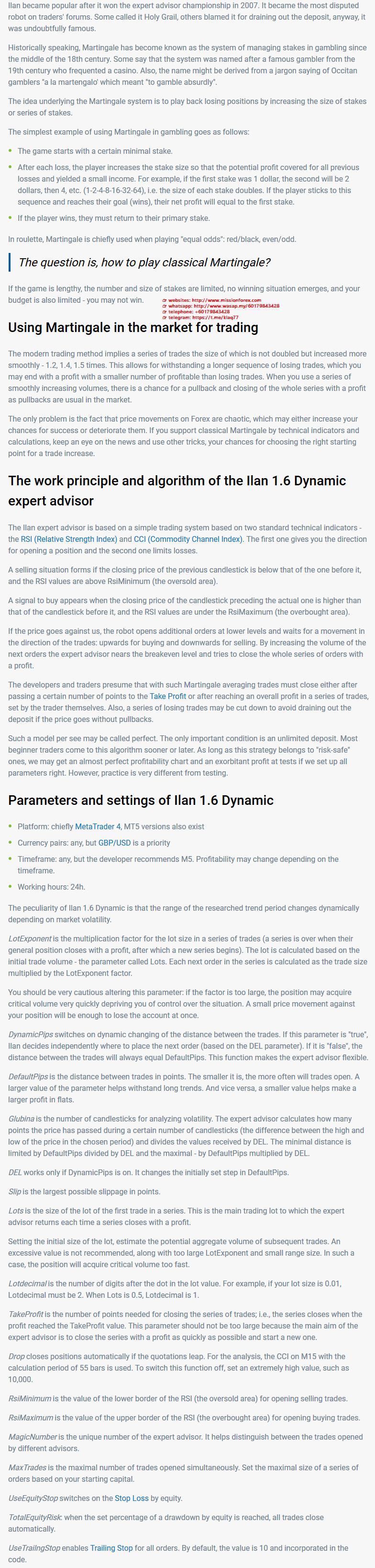 ILan Dynamic Pro EA Unlimited MT4 System Metatrader4 Expert Forex Robot Trading
