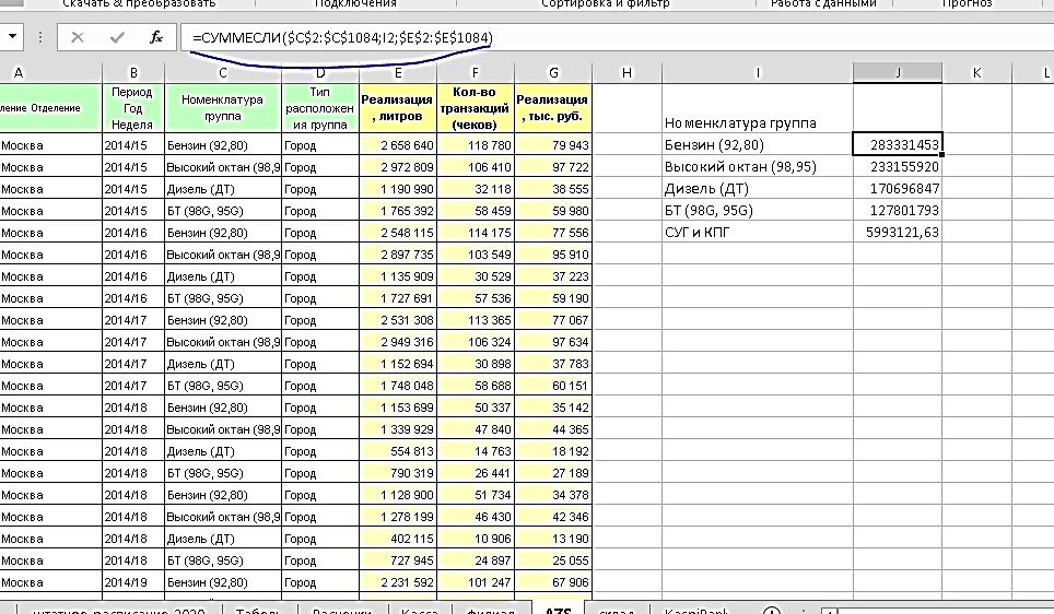 Sum Excel