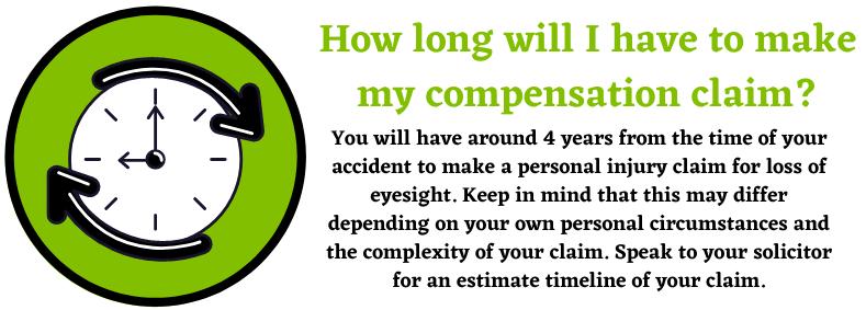 timeline of compensation claim