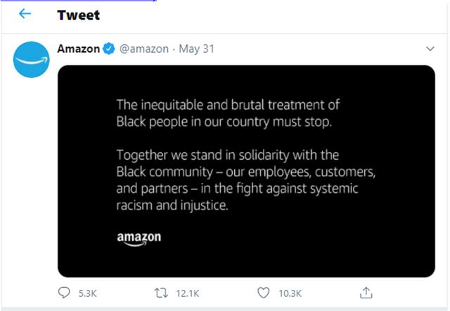 Amazon Tweet