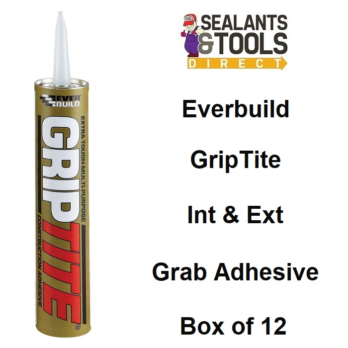 Everbuild Griptite High Grab Construction Adhesive Box 12
