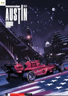 19 USA 2019 FERRARI COVER ART POSTER